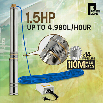 AU249 • Buy 【EXTRA20%OFF】Protege 1.5HP Submersible Bore Water Pump Deep Well Irrigation