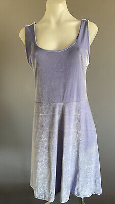 AU27 • Buy BNWT ASOS Size 18 Womens Purple Velvet Stretch Sundress