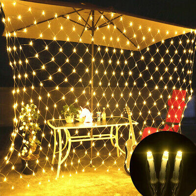96-880 LED String Fairy Lights Curtain Net Mesh Christmas Tree Garden Outdoor • 10.79£