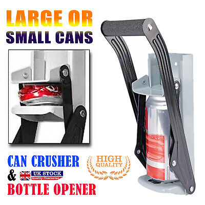500m Heavy Duty Beer Tin Can Crusher Wall Mounted Recycling Tool & Bottle Opener • 10.70£
