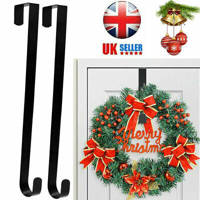 Christmas Wreath Door Hanger Secure Strong Metal Hook Xmas Decoration @led4 • 4.03£
