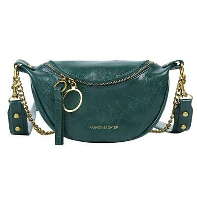 Fashion Leather Crossbody Bags Women Chain Shoulder Travel Handbag (Green) • 9.81£