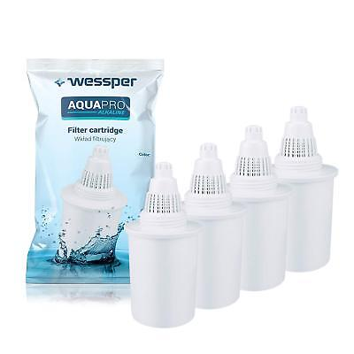 4x PureAire Alkaline Water Filter Jug Replacement Filters - White Colour • 19.90£