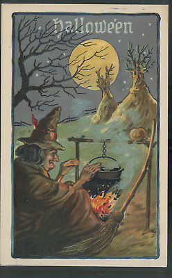 $ CDN91.45 • Buy Vintage Halloween Postcard WITCH  PM 1911 EMBOSSED L&E SERIES 2229 (H46)