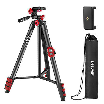 AU32.99 • Buy Neewer Camera Smartphone Tripod 54  Tripod Stand With Remote And 3-way Pan Head