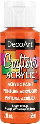 Crafter's Acrylic All-Purpose Paint 2oz-Bright Orange -DCA-97 • 6.81£