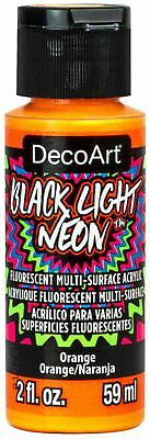 DecoArt Black Light Neon Acrylic Paint 2oz-Orange -ABLN-02 • 7.66£