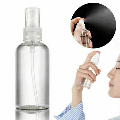 50/100ML Travel Transparent Plastic Perfume Atomizer Empty Small Spray Bottle • 3.29£