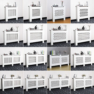 £28.90 • Buy White Radiator Cover Grill Shelf Cabinet MDF Wood Modern Traditional Furniture