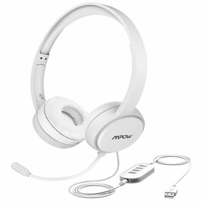 Mpow 3.5mm/USB Wired Computer Headset Headphones Business For Skype Call Center • 19.29£