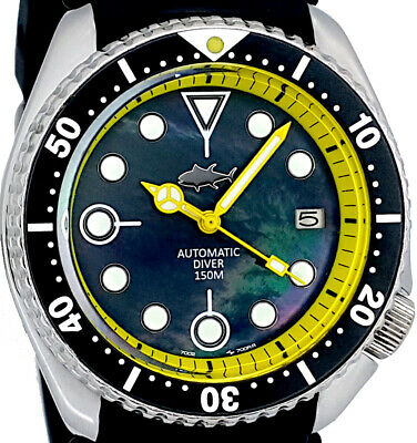 $ CDN87.67 • Buy Vintage Watch SEIKO Diver 7002 Mod W/Mercedes Set On Black Mother Of Pearl Dial