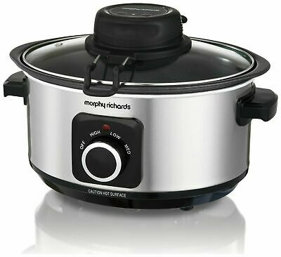Morphy Richards 163W 3.5L 3 Settings S/Steel Auto Stir Slow Cooker 460009 • 49.95£