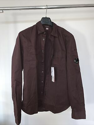 C.P. Company Burgundy Gabardine Overshirt Button Up 2XL BNWT • 109.99£