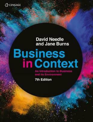 Business In Context: An Introduction To Business And Its Environment By David Ne • 55.08£