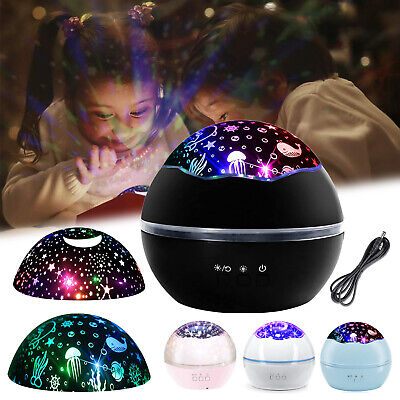 AU22.49 • Buy LED Night Light Galaxy Starry Projector Ocean Star Sky Lamp For Kids Room/Party