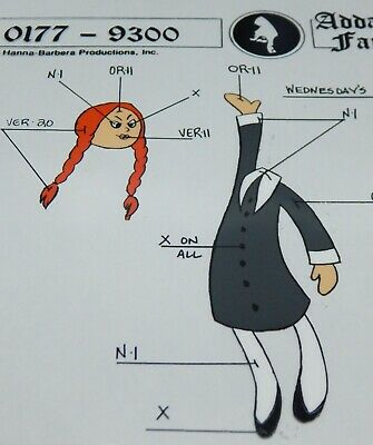 $ CDN93.87 • Buy 1993 Hanna Barbera Addams Family Cartoon WEDNESDAY's DOLL Model Animation Cel  !