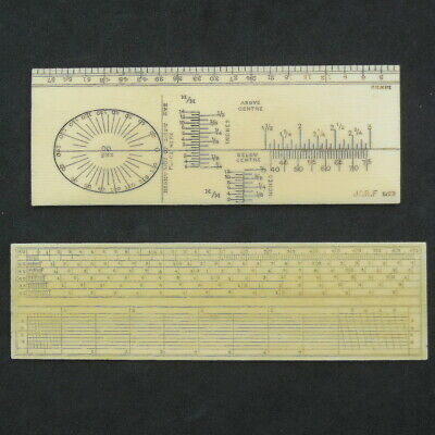 Rare Antique Scientific Rule Ivorine Opthamology Optician Sight Ruler & 1 Other • 45.58£