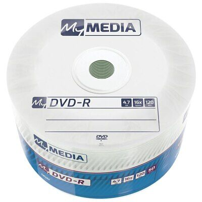 £15.95 • Buy 100 MYMedia DVD-R RECORDABLE 16x Speed Blank Discs 4.7GB 2 Packs Of 50