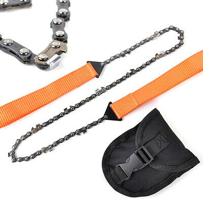 Hand ChainSaw Camping Portable Pocket Gear Chain Saw Cutting Firewood New Tool • 6.99£