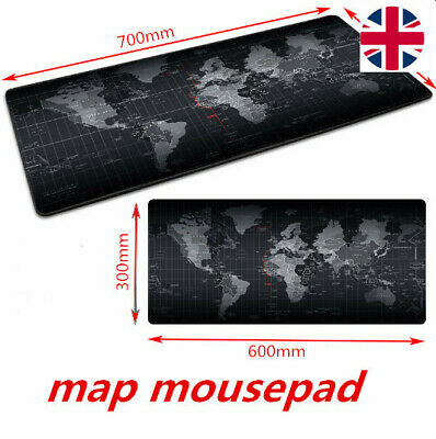Gaming Mouse Pad Mouse Mat Computer Mousepad Carved World Map Support PC Laptop • 7.69£