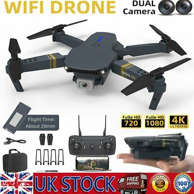 Drone X Pro Quadcopter Drone 1080P HD Foldable Dual Camera 5G WiFi FPV GPS 3D RC • 37.99£