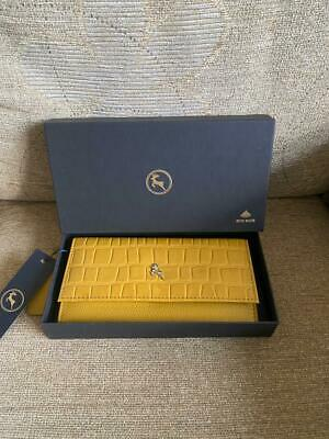 Ashwood Leather Mock-croc Wallet/ Purse Mustard Rfid Safe New • 29.99£