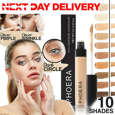 Phoera® Full Coverage Concealer Foundation Makeup Matte Brighten Long Lasting UK • 3.75£