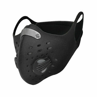 Face Mask Cover Reusable Washable Anti Pollution PM2.5 Air Vent With Filter UK • 3.99£