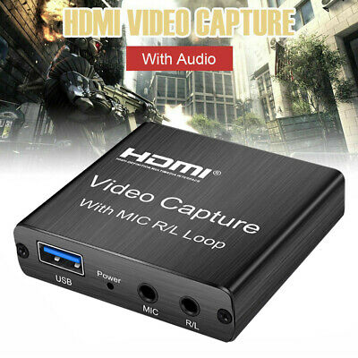 60hz HDMI Video Capture Card Portable For Live Streaming Game Recording With Mic • 16.89£