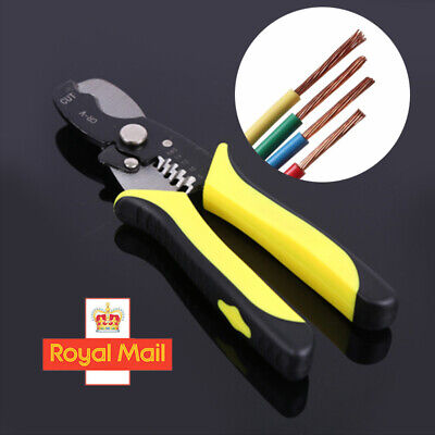Automatic Cable Wire Stripper Crimper Crimping Tool Adjustable Plier Cutter UK • 6.98£