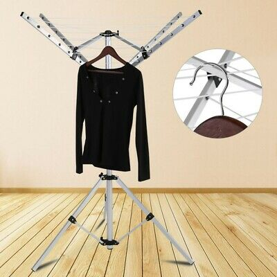 UK 4 Arms Aluminium Rotary Camping Clothes Airer 16m Washing Line Drying Rack • 22.69£