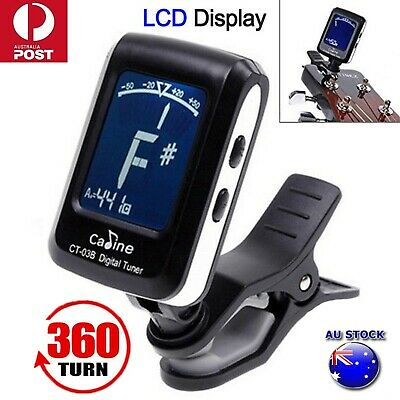 AU16.98 • Buy New Chromatic Guitar Tuner Violin Ukulele Bass LCD Electronic Digital Clip On AU