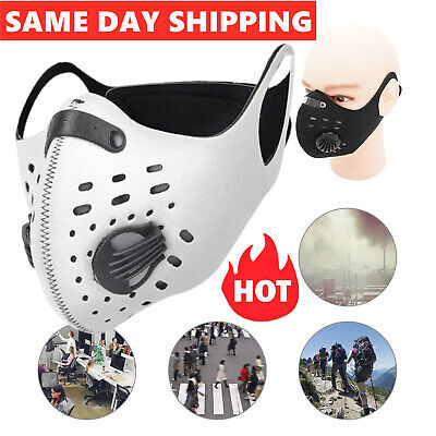 Face Mask Reusable Washable PM2.5 Anti Pollution, With 2 Air Vent & 2 Filter TOP • 4.69£