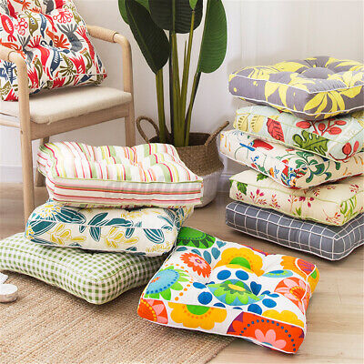 AU19.76 • Buy 20'' Floral Cotton Square Round Chair Pad Thicker Cushion Office Seat Sofa Home