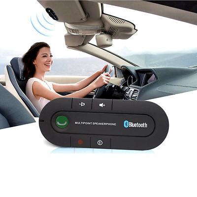 Wireless Bluetooth Car Kit Handsfree Speaker Phone Visor Clip For IPhone Android • 3.98£