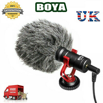 BOYA BY-MM1 3.5mm Lavalier Microphone Mic For DSLR Canon Nikon Camera Smartphone • 19.59£