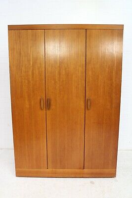 Mid Century G Plan Teak Wardrobe With Sliding Doors • 155£