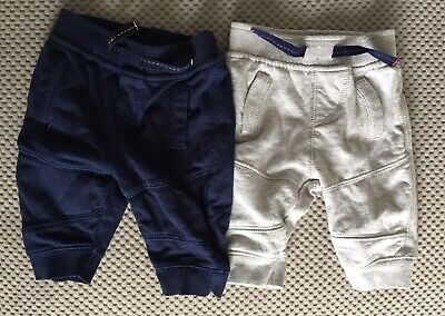 2 X Pairs Of Bluezoo Boys Jogging Bottoms Aged 0-3 Months • 1.50£