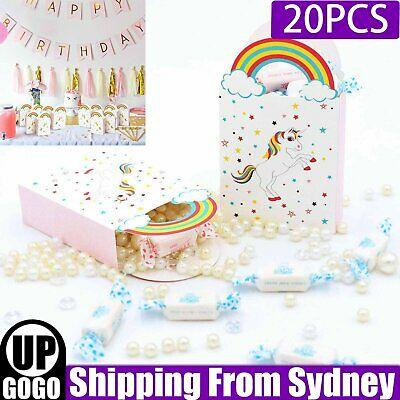 AU8.99 • Buy 20PCS Paper Unicorn Bag Treat Gift Loot Bag Candy Box Kids Birthday Party Favour