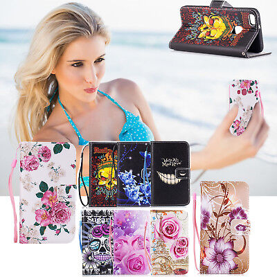 $ CDN6.56 • Buy Print Leather Flip Wallet Phone Case Cover For IPhone 7 7 Plus 6 6S X Samsung S9
