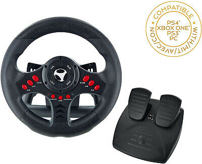 Xbox One Steering Wheel And Pedal Set Gaming Racing Driving Simulator PS4 PS3 UK • 65.97£