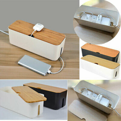 £13.85 • Buy Large Cable Storage Box Case Power Strip Cord Wire Management Socket Cable Tidy