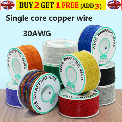 £10.59 • Buy 30AWG Electronics Wrapping Wire 250 Meters Dia 0.58MM For Circuit Boards Welding