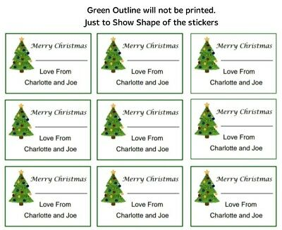 £1.80 • Buy 24 X Personalised Christmas Stickers Labels  Presents Tags Gifts Favour. Tree
