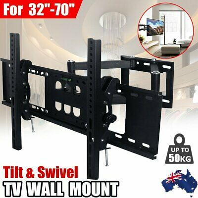 AU33.09 • Buy TV Wall Mount Bracket Full Motion Tilt Swivel Pivot 32 40 43 50 55 60 65 70 Inch