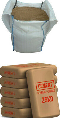 Building Sand Bulk Bag And 6 Cement Package ***FREE NATIONWIDE DELIVERY*** • 107.25£
