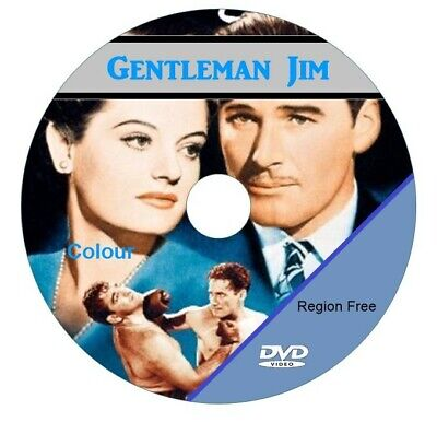 GENTLEMAN JIM (In Colour) Stars Errol Flynn DVD. • 4.99£