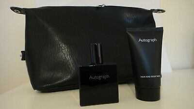 M&S Autograph Mens Eau De Toilette 30ml & Hair Body Wash 50ml With Wash Bag  • 4.25£