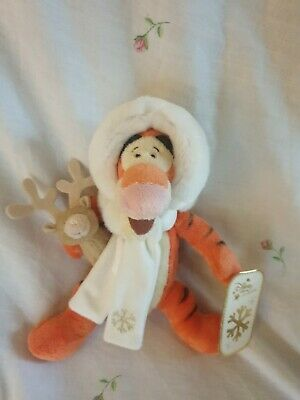 Disney Store Exclusive Tigger Christmas Winter Edition Soft Toy Plush With Tags • 19.99£