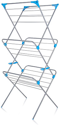 Minky 3 Tier Indoor Washing Airer Clothing Laudry Drying Rack • 27.34£